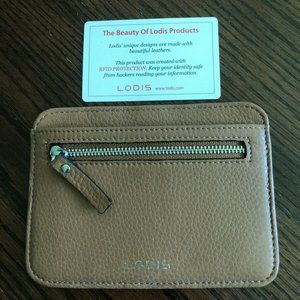 NEW LODIS BROWN LEATHER WALLET W/RFID PROTECTION